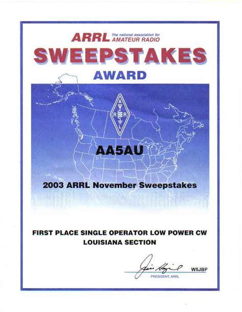 Cw Sweepstakes - 2003 cw sweepstakes aa5au