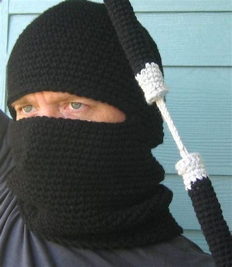 crochet pattern ninja mask crochet pattern ninja hood and nunchucks amigurumi pdf