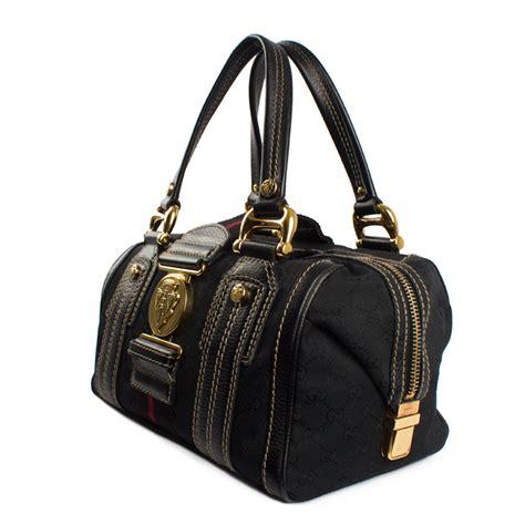 Gucci Aviatrix Large Boston by Gucci Black Monogram Aviatrix Large Boston Bag My Luxury