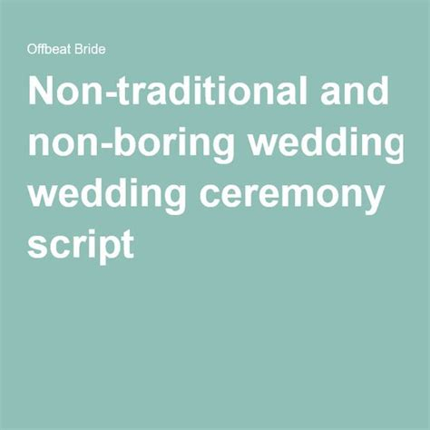 Wedding Ceremony Non Traditional by Wedding Ceremony Script Non Religious Wedding Ceremony