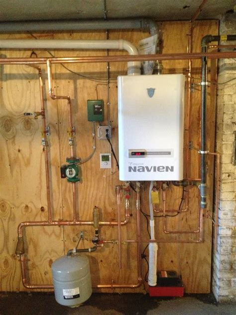 navien ch240 asme boiler installation for a client in
