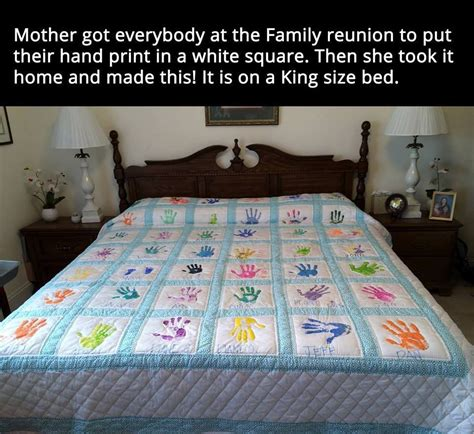 Handprint Quilt by Print Quilt Pictures Photos And Images For
