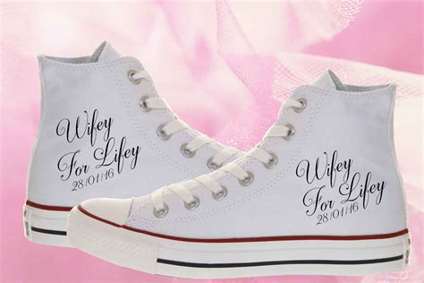 Turnschuhe Hochzeit by For Lifey Custom Wedding Converse Shoes