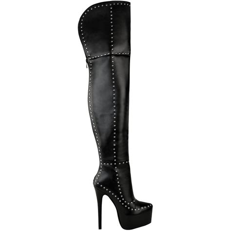 drag boots mens unisex the knee thigh high platforms boots drag