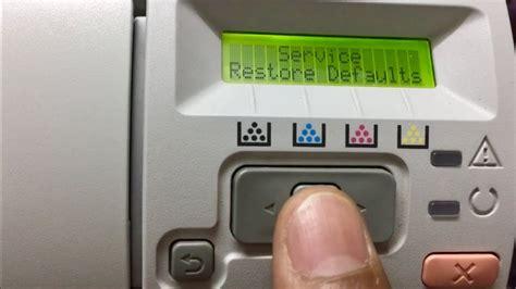 hp color laserjet cp2025 restore the hp color laserjet cp2025 factory default