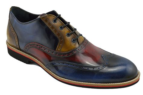 brown wingtip oxford mens shoes 230 nukte blue brown leather wingtip brogue dress