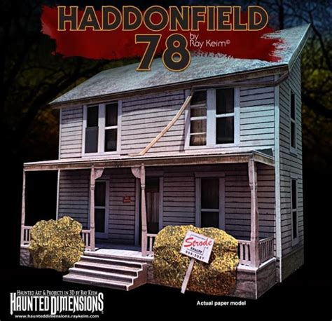 mike myers house papermau halloween michael myers house paper model by ray keim
