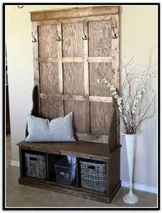 rustic entryway bench with storage home design ideas