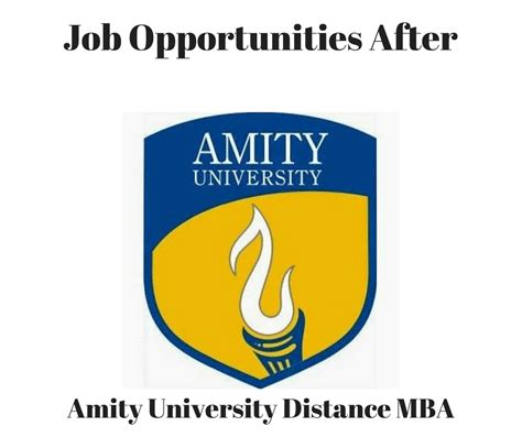 Opportunities After Distance Mba amity distance mba opportunities distance education
