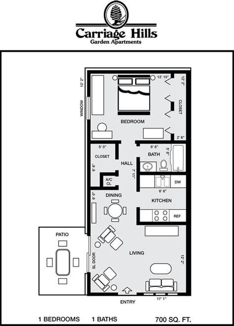 700 square apartment floor plan houses 700 square carriage floor plans