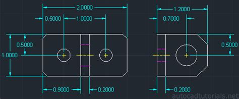 autocad 2007 dimensioning tutorial how to draw anchor bracket with autocad 2012 cad