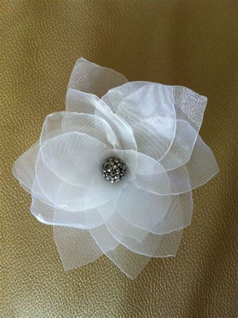 Handmade Material Flowers - white handmade fabric flower wedding every day