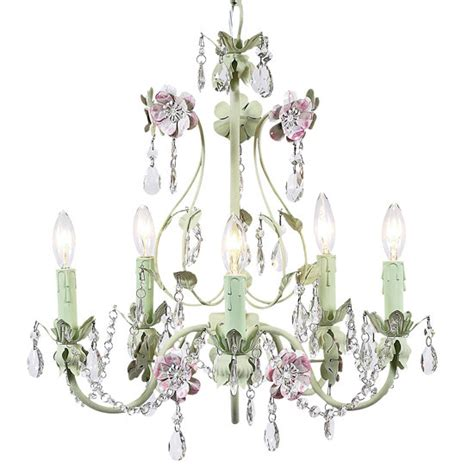 Pink And Green Chandelier Pink And Green Flower Garden Chandelier 7469