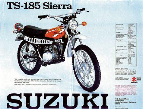 1975 Suzuki Ts185 Suzuki Ts185 Brochures Adverts