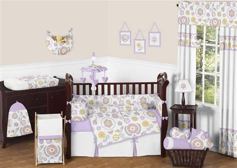 Yellow Crib Bedding Set Sweet Jojo Designs Lavender Grey Yellow Floral Baby Crib