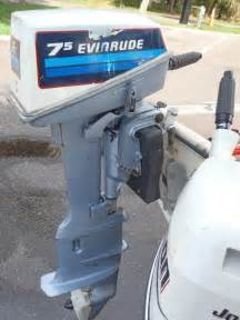 7 5 hp evinrude yachtwin outboard sailboat motor