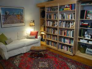 sliding bookcase murphy bed sliding bookcase murphy bed 1 from apartment therapy