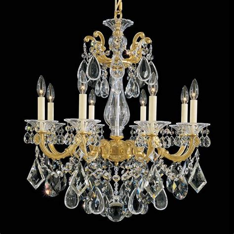 Schonbek 5073 La Scala 8 Light Up Lighting Chandelier Schonbek Chandeliers