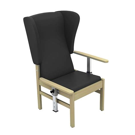 medical armchair sunflower medical atlas black high back intervene patient