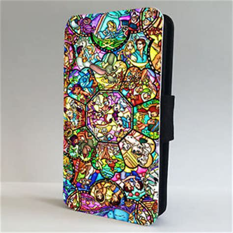 Casing Iphone 5 5s Stained Glass Custom disney characters stained glass flip phone cover iphone 4 4s 5 5s 5c 6 6 ebay