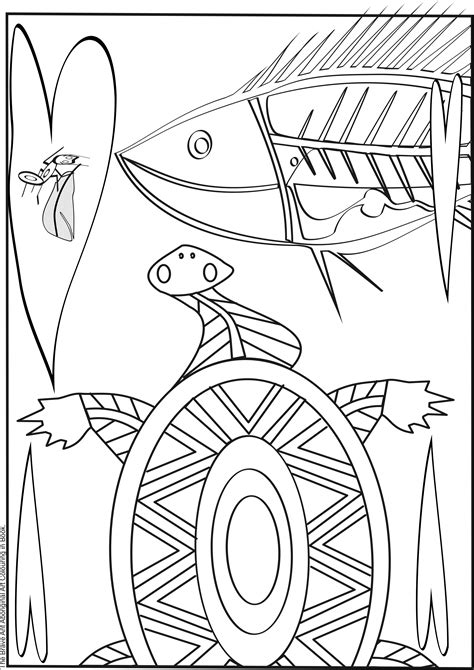 aboriginal art colouring pages sketch coloring page