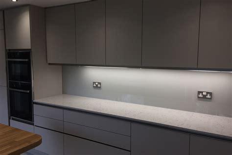 Modern Cabinets Kitchen Kitchen Glass Splashback Coloured In Farrow And Ball