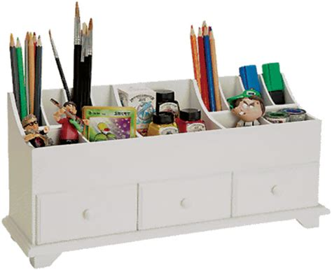 white wooden desk tidy organiser caddy pen holder tidy