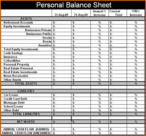 Blank Balance Sheet Template by Blank Balance Sheet Template Selimtd