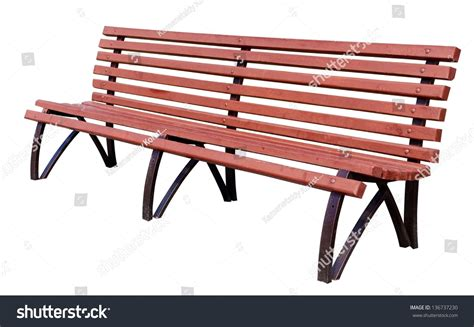 bench over yellow park bench isolated over white stock photo