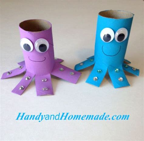 octopus toilet paper roll craft 91 best craft images on paper plates