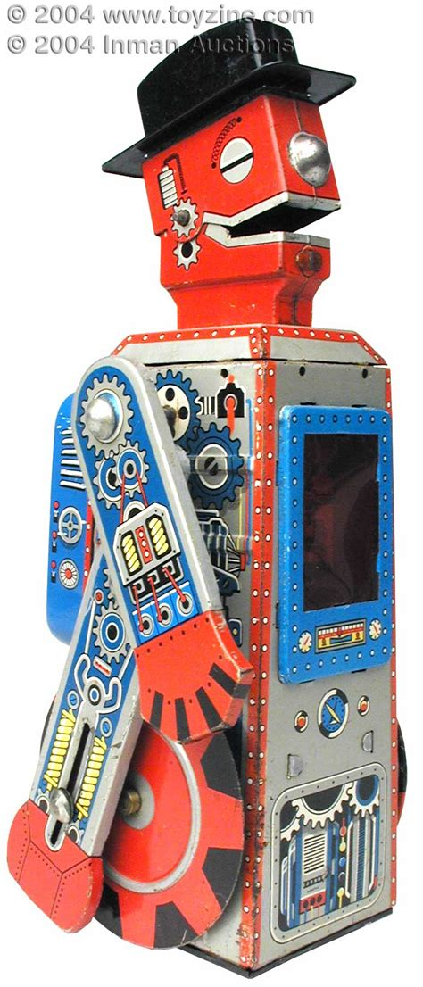 Robo S H F By Greenland Toys 1955 tinplate japanese robot mego tin robot f h