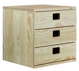 bloc 3 tiroirs pin massif 36x36x33 cm entrep 244 t du bricolag