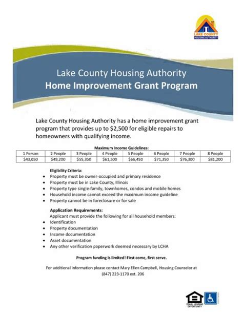 lake county housing authority s home improvement grant