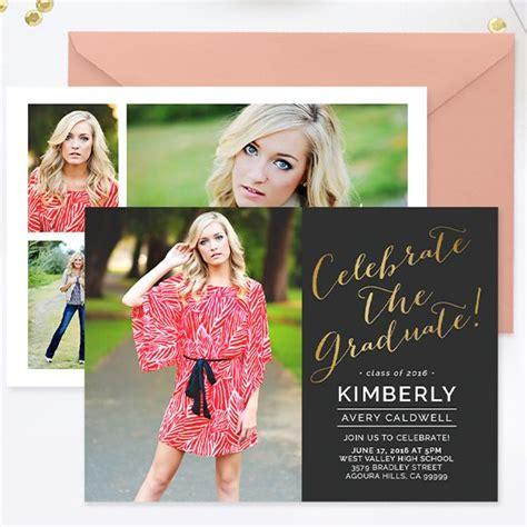 graduation announcement template senior card for photographers