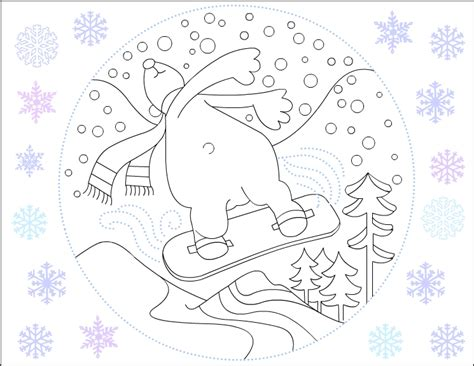 winter bear coloring page winter bear coloring pages kids coloring page gallery
