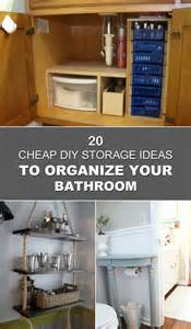 Cheap Ideas For Storage 20 Cheap Diy Storage Ideas To Organize Your Bathroom