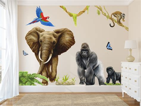 jungle wall decals wall murals room sets inspiremuralscom