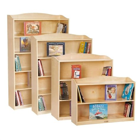 guidecraft 5 shelf bookshelf g6476