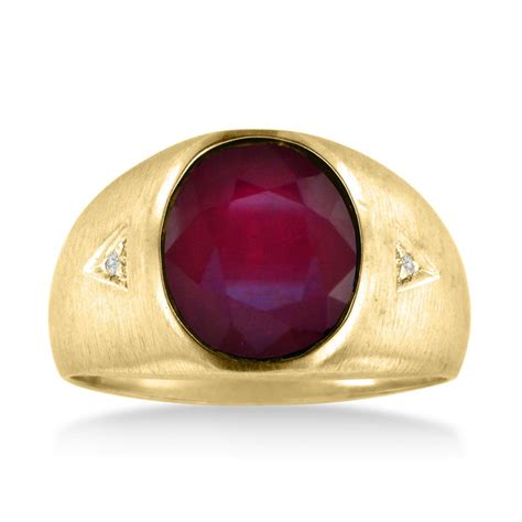 Ruby 4 2ct ruby ring july birthstone 4 1 2ct oval created ruby