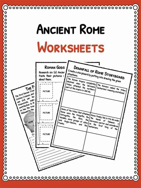 Ancient Rome Worksheets by Empire Worksheets Geersc