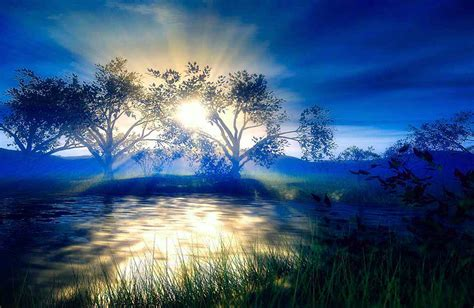 imagenes de paisajes geniales fondo escritorio paisaje lago atardecer