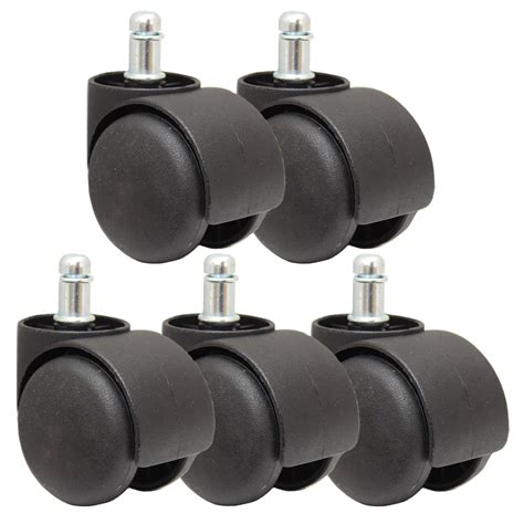 Office Chair Casters by 5 New Black Replacement Castor Wheels Computer Office Chair Caster 50mm 11mm Ebay