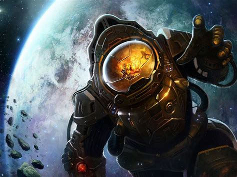 astronaut  space earth   background explosion