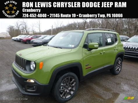 green jeep renegade 2016 jungle green jeep renegade 75th anniversary 4x4