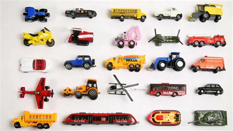different types of cars names with pictures learn vehicles names and sounds with toys