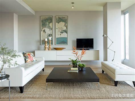 Zen Minimalist Living Room 90平米小户型装修效果图 90平小户型房屋装修 土巴兔装修效果图