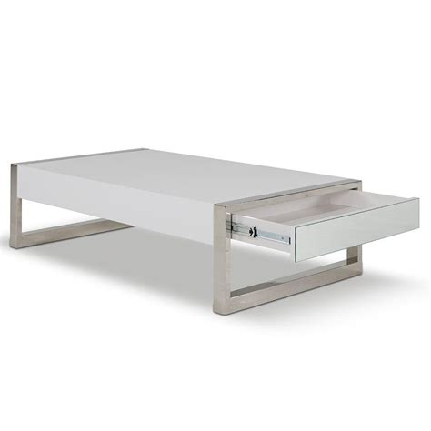 white coffee table modern with special appearance coffe