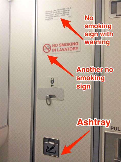 no smoking sign on plane why commercial airline washrooms have cigarette ashtrays