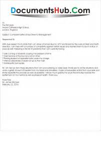 Complaint Letter About Driver Complaint Letter Of Driver To Management Documentshub