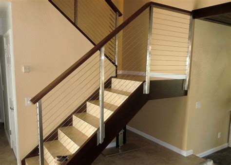 contemporary stair rails and banisters stainless stair railing modern staircase other metro by san diego cable railings